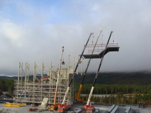 Kalkkrossanläggning Trondheim Stålkonstuktion