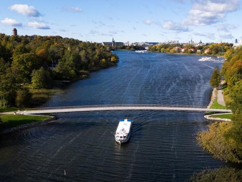 Gångbro Rostfri Duplex Folke Bernadottes Bro Stockholm