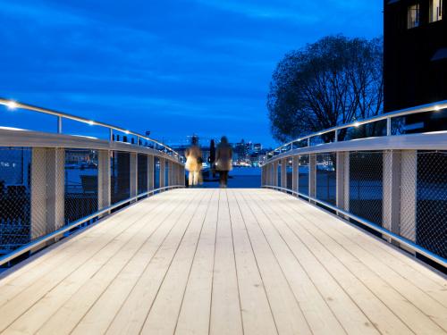 Rostfri duplex-bro Vasamuseet GC-bro