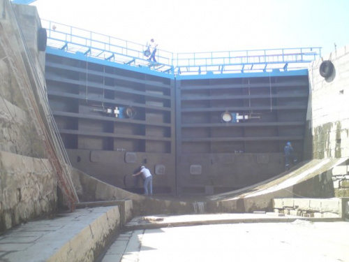 Dockningsportar torrdockor