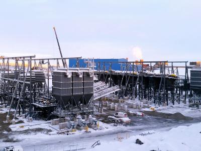Krossanläggning Stålkonstruktion Svapavaara Leveäniemi